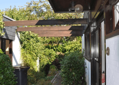 Issum-Sevelen Bungalow Eingang