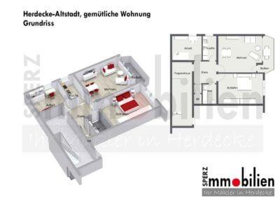 Grundriss - Herdecke-Altstadt, gemütliche Wohnung