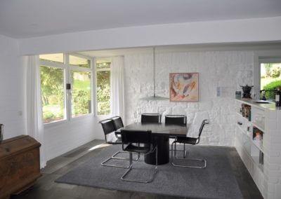 Herdecke-Herrentisch, Bungalow black and white Esszimmer