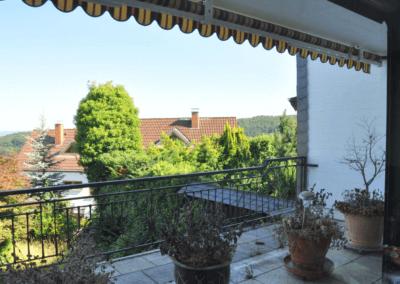 Balkon mit Blick in den Garten | Herdecke-Kirchende Raumwunder mit Aussicht über Westende