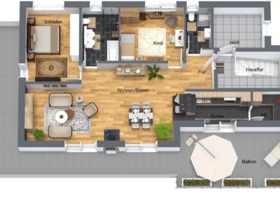 Herdecke Penthouse Erstbezug Grundriss