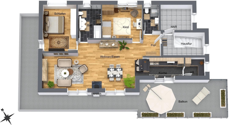 Penthousewohnung – Erstbezug
