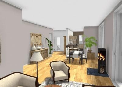 Herdecke Penthouse Erstbezug Wohnzimmer