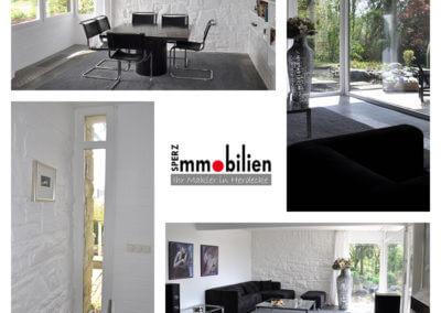 Wohn-/Essbereich | Herdecke-Herrentisch Bungalow - Black and White - mit tollem Grundstück