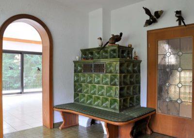 Kachelofen im Wohnbereich