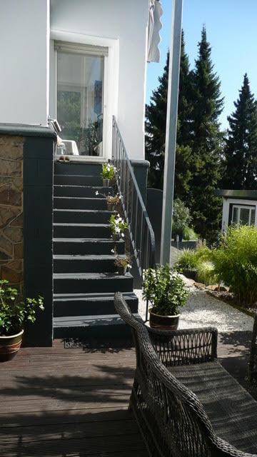Zugang zur Terrasse von traumhafter Altbauwohnung mit großer Außenterrasse in Wetter