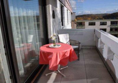 Balkon von komplett eingerichteter Wohnung in Herdecke-Westende