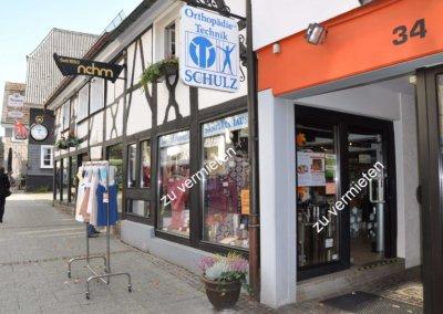 Außenansicht von ansprechendem Ladenlokal in der Altstadt von Herdecke