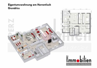 Grundriss Wohnen über den Dächern von Herdecke-Herrentisch-01