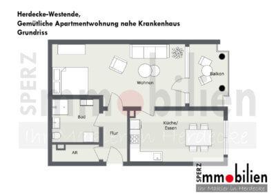 Grundriss Gemütliche Apartmentwohnung nahe Krankenhaus (1)
